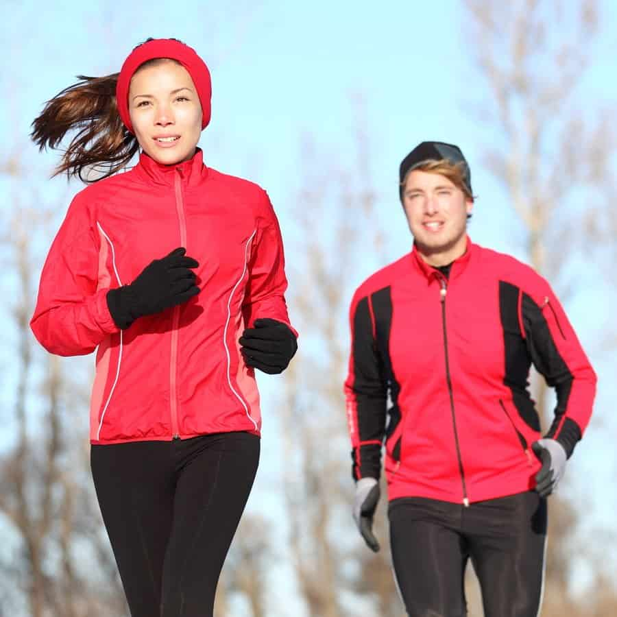 running outdoors in winter