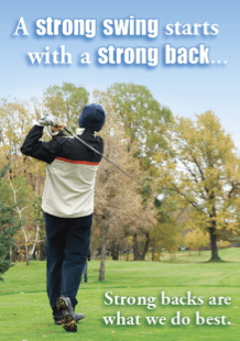 strong back for golf swing - chiropractor sport injury